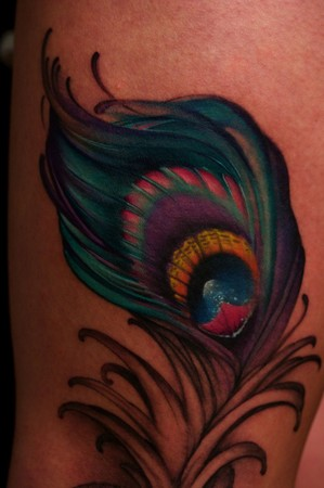 Tattoo's of feathers are quite popular now, especially of peacock feathers.