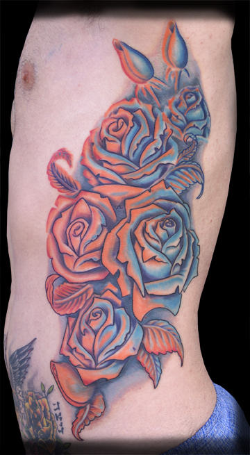Jeff Johnson - Roses Large Image. Keyword Galleries: Color Tattoos,