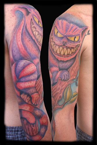 Pictures of Cheshire Cat Tattoos NIGHTMARE BEFORE CHRISTMAS TATTOOS.