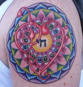 Jeff Johnson - Eyeball Mandala Large Image. Keyword Galleries: Color Tattoos