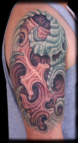 Fleshy Bio. Placement: Arm Comments: This is a tattoo I previously posted on