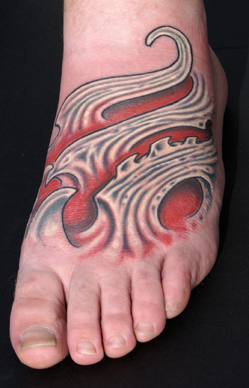 Jeff Johnson - Bio foot. Large Image. Keyword Galleries: Color Tattoos,