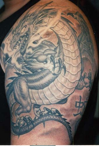 Tattoos? medieval dragon. Size:339x500