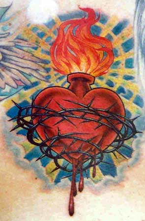 tattoo on pinterest sacred heart tattoos sacred heart and jesus tattoo. Black Bedroom Furniture Sets. Home Design Ideas