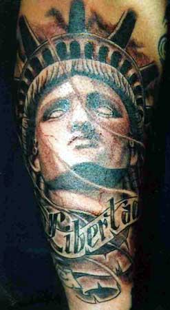 Jimbo statue of liberty for Statue of liberty tattoo