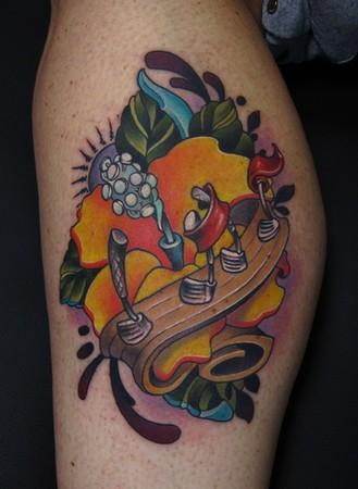 Keyword Galleries: Color Tattoos, Music Tattoos,