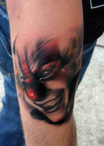 Tattoos > Joshua Carlton > Page 2 > Slipknot clown