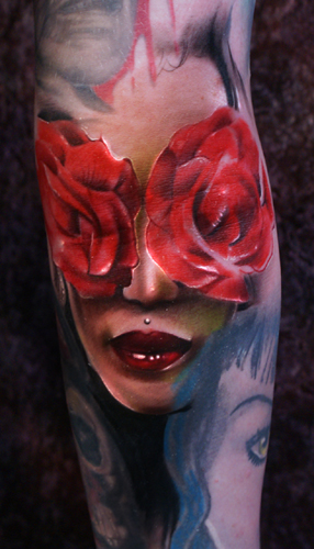 Looking for unique Joshua Carlton Tattoos? Rose woman
