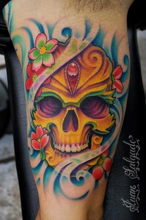 day of dead skull tattoo designs. skull tattoo pictures. day of
