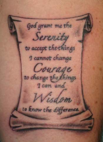 Khalil Rivera - Serenity Prayer Tattoo