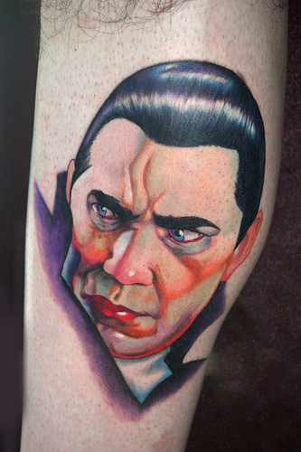 Bella Lugosi Dracula Vampire Realisic portrait color