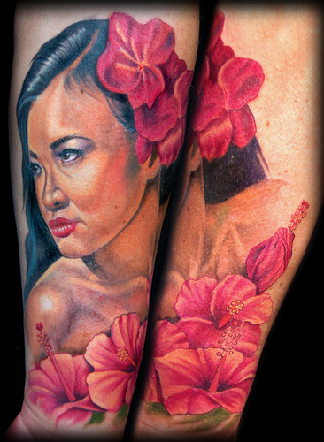 Keyword Galleries: Portrait Tattoos, New School Tattoos, Flower Tattoos,