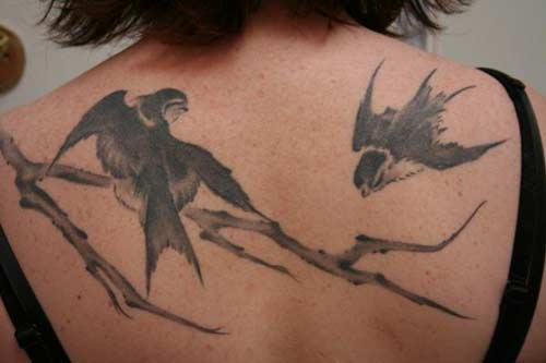 Black animal tattoo, Nature
