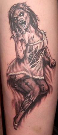 pin up y  zombie tattoos mis tres amores juntos