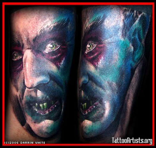Keyword Galleries: Portrait Tattoos, Religious Tattoos, Movie Horror Tattoos
