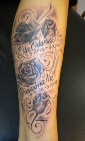 looking for unique tattoos memorial tattoo with script
