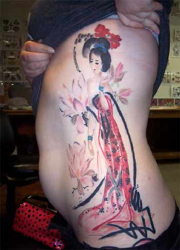 Beautiful Girls Tattoo Images With Side Body Tattoos Art Typically Good Geisha Tattoos Designs Art Gallery Pictures