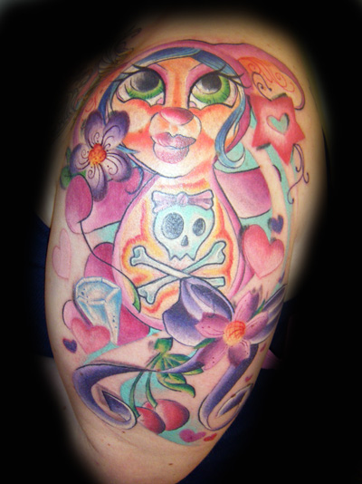 Kristel stephaines funky bunnie tattoo for Funky rooster tattoo and art gallery