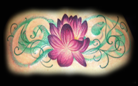 Looking for unique Tattoos? Cris's Lotus Flower Tattoo