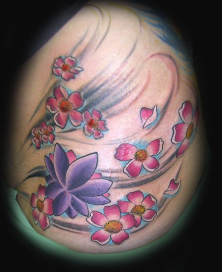 lotus blossom tattoos. Cherry Blossom Tattoos,