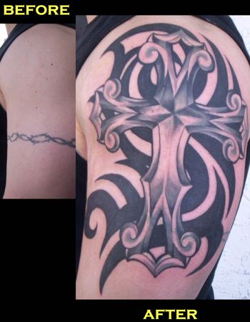 Looking for unique Tribal tattoos Tattoos? Cross cover-up