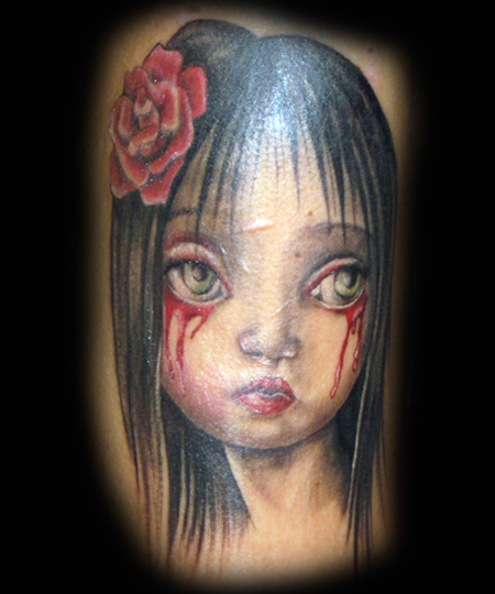 Looking for unique Dark Skin tattoos Tattoos? Ryden Sad Sad Girl Tattoo