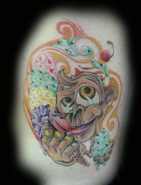 Looking for unique Nature tattoos Tattoos? Pete's Funky Ice Cream Monkey