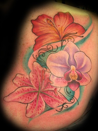 Picture Flower Tattoos on Off The Map Tattoo   Tattoos   Flower   Family Flowers