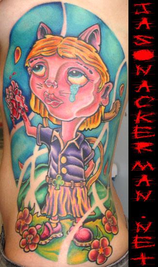 Jason ackerman cat girl tattoo for Jason ackerman tattoo