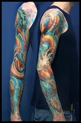 Dragon Sleeve Tattoos
