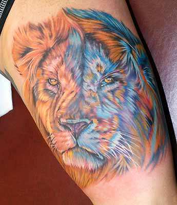 Color Tattoos. Lion. Now viewing image 33 of 267 previous next