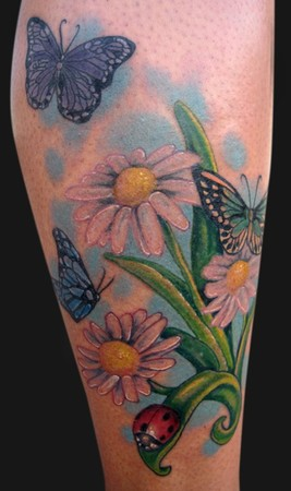 Looking for unique Katelyn Crane Tattoos? Daisies and Bugs