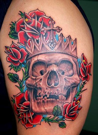 Shoulder Skull Tattoo Picture 1