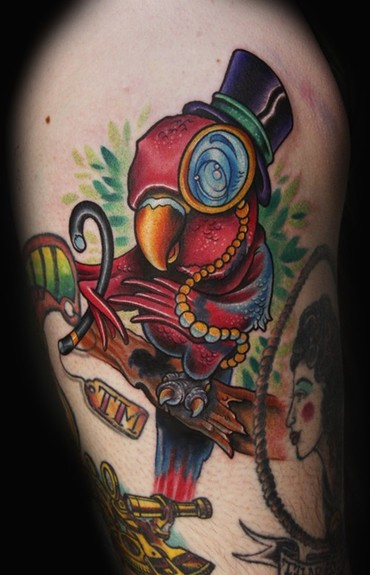Parrot tattoos are very famous and popular among the tattoo lovers across