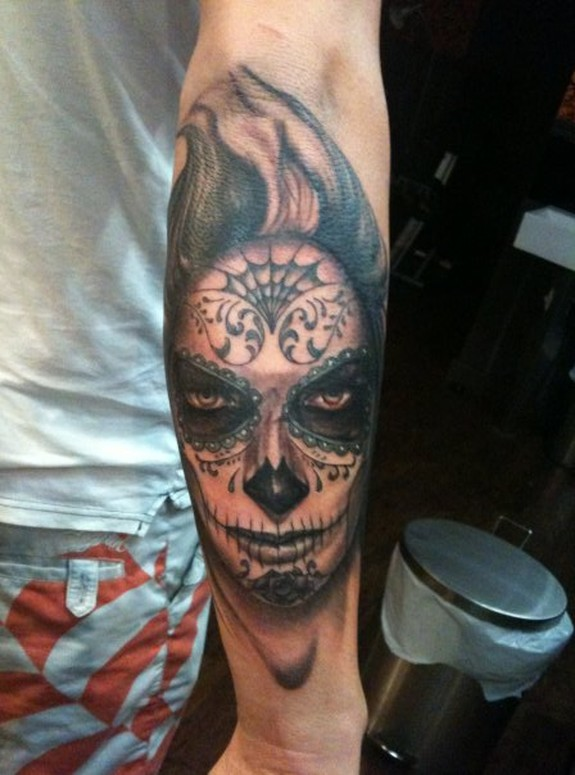 day of the dead girl tattoo. dead girl Tattoo Design