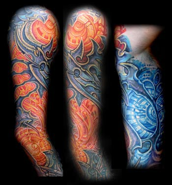 bio organic sleeve. Placement: Arm Comments: bio organic arm sleeve tattoo
