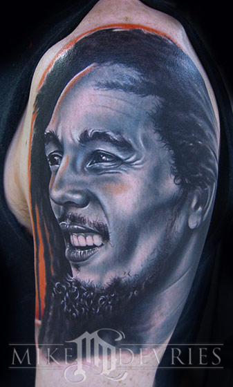 Mike DeVries - Bob Marley Leave Comment. Bob Marley Tattoo