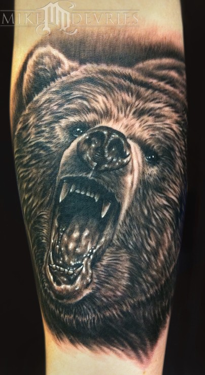 Comments: Grizzly Bear Tattoo. I love when I get the chance to tattoo black