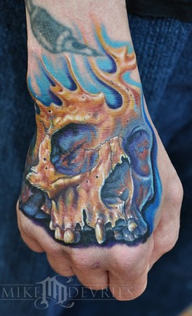Tattoos Evil. Skull Tattoo. Now viewing image 7 of 40 previous next