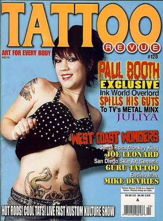 Tattoo Revue issue #120.Article with DeVries. Keyword Galleries: