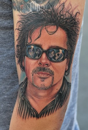 Nightmare before Christmas Tattoos 4. Portrait of Tim Burton,