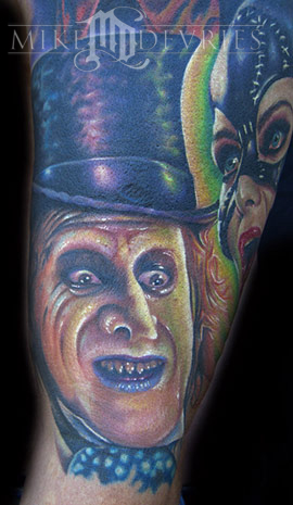 Danny Devito as the Penguin.this is part of a sleeve of batman