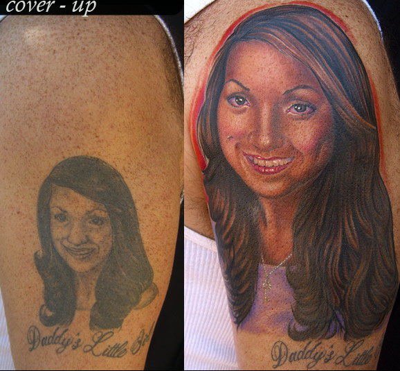 Tattoos Portrait. Portrait Cover-up Tattoo