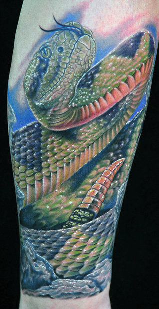 snake tattoo. Most tattoo parlors will also be happy