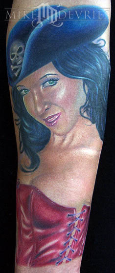 pirate city tattoo. Mike DeVries - pirate pinup