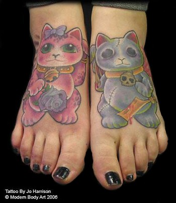 Looking for unique Tattoos? Cat Feet Tattoo · click to view large image