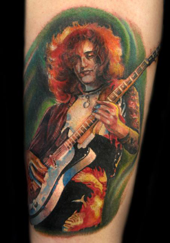 Guitar Tattoos: Inlay Harry's Way by Harry Fleishman