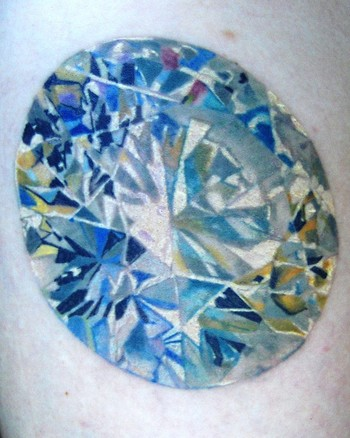 Realistic Diamond : Tattoos
