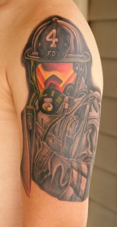 Firefighting Tattoos on Off The Map Tattoo   Tattoos   Stretch   Firefighter Tattoo