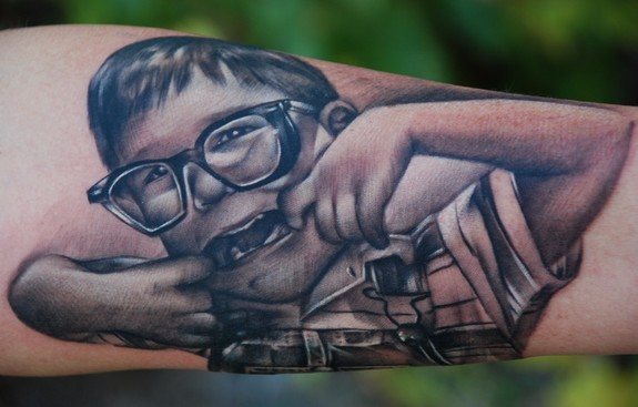 Black and Gray Portrait Tattoos